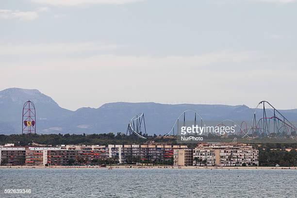 Main attraction of the future Ferrari land the new theme park in construction at Tarragona near PortAventura World Barcelona on August 21 2016 in...