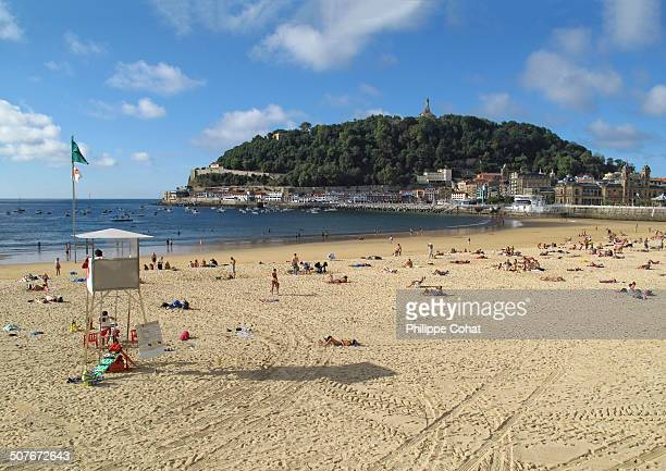 CONTENT] Main beach of San Sebastian in the Basque Country northern Spain