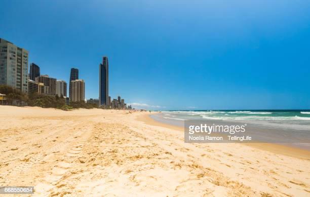 Main beach Surfers Paradise, Gold Coast. No people