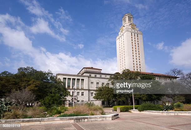main building at the university of texas campus in austin - university of texas at austin stock pictures, royalty-free photos & images