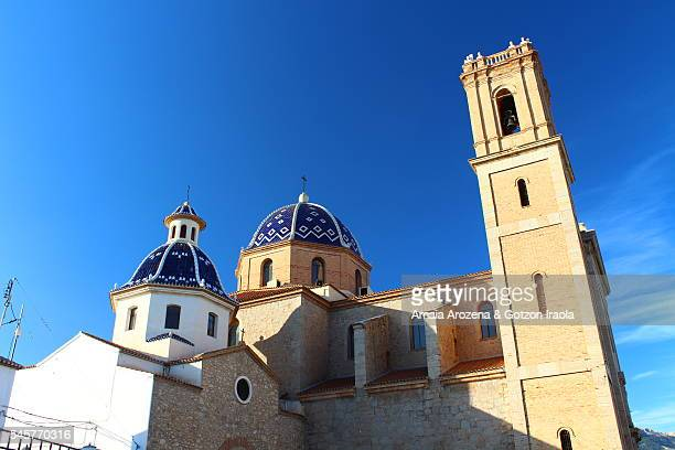 Main church of Altea village in Spain