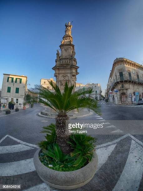 Main city center of old town with Column of Saint Oronzo