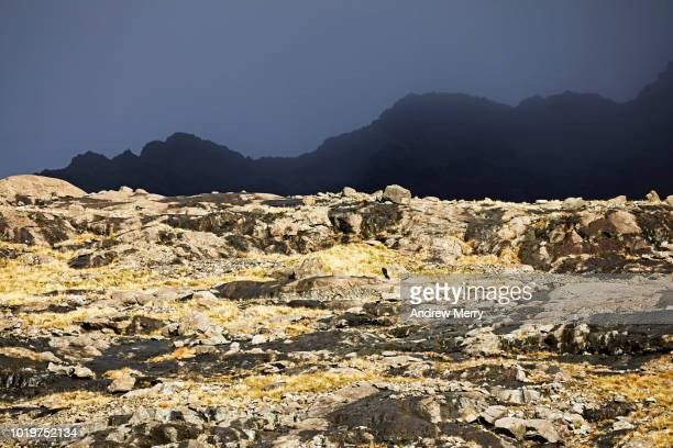 main cuillin ridge, black cuillin, mountain range, isle of skye - ridge stock pictures, royalty-free photos & images