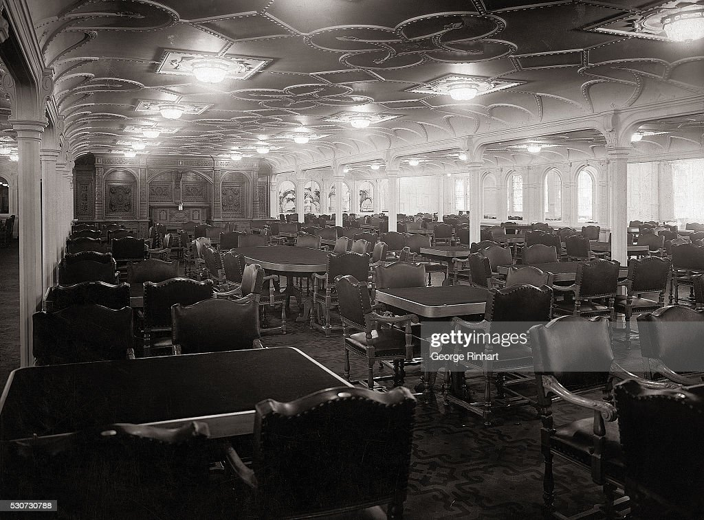 Main Dining Room Of The SS Titanic Largest Ship In World