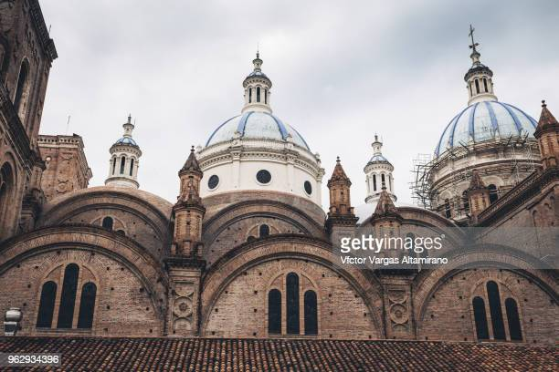 Main Domes of the Cathedral of Cuenca, Ecuador.
