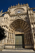 Main door of the Assumption of Saint Mary of the See cathedral, Spain