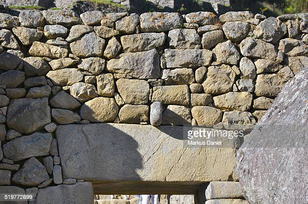 "main doorway to machu picchu - ""markus daniel"" stock pictures, royalty-free photos & images"