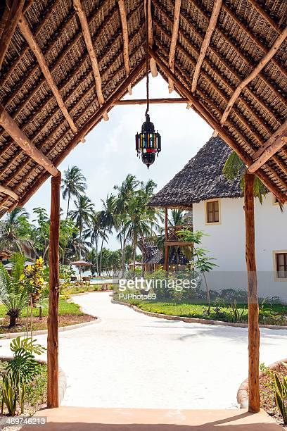 main entrance of a tourist resort - pjphoto69 stock pictures, royalty-free photos & images