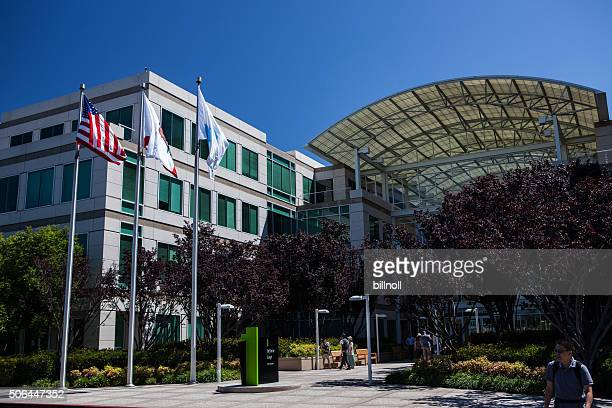 Main entrance of Apple, Inc. in Cupertino, CA