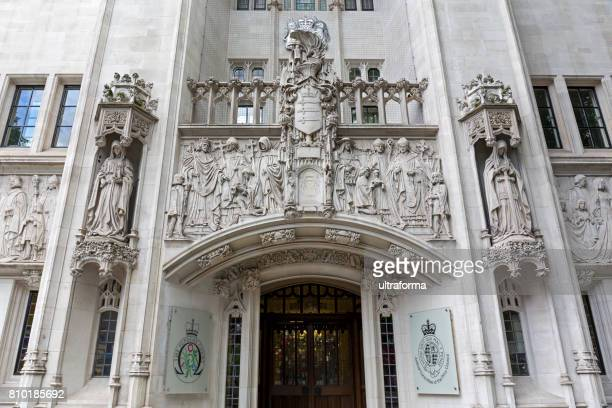 Main entrance of the Supreme Court in London