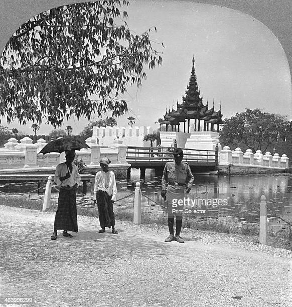 Main entrance to Fort Dufferin and the Royal Palace Mandalay Burma 1908 The palace was built between 1857 and 1859 as part of King Mindon's...