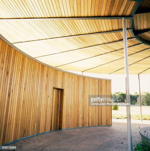 Main entrance to National Botanic House of Wales Carmarthenshire Wales United Kingdom Designed by Norman Foster and Partners