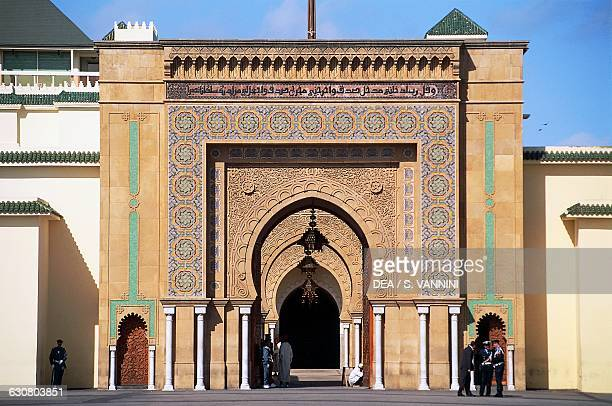 Main entrance to the Royal Palace Rabat Morocco 19th century