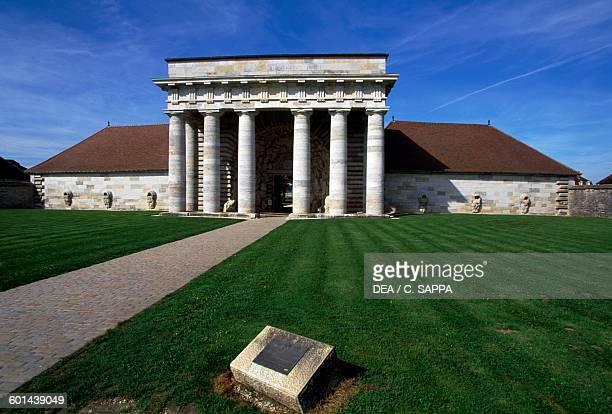 Main entrance to the Royal Saltworks by Claude-Nicolas Ledoux, Saline Royale , Arc-et-Senans, Franche-Comte. France, 18th century.