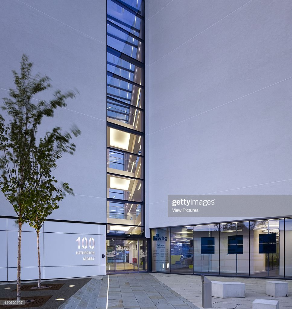Main Building Group Pictures: Main Entrance With Full Height Glazed Atrium At Dusk