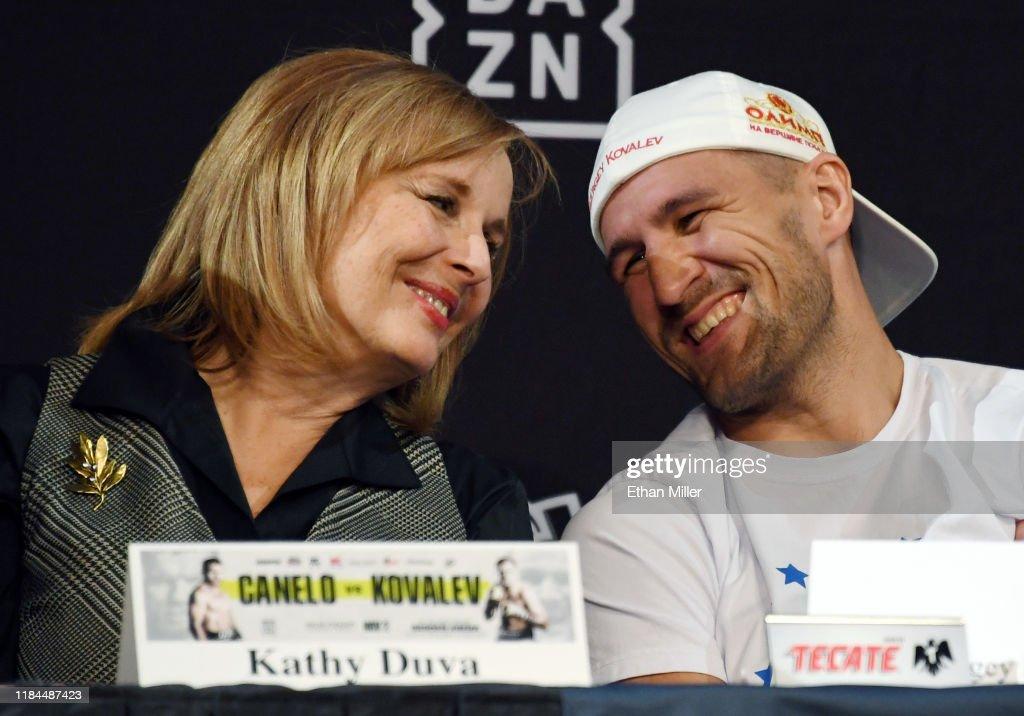 Canelo Alvarez v Sergey Kovalev - Final News Conference : ニュース写真
