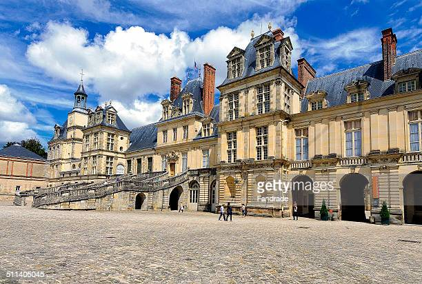 Main facade of the Castle of Fontainebleau  France
