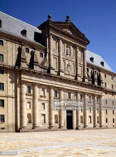 Main facade of the Monastery of San Lorenzo de El Escorial Madrid Spain 16th century