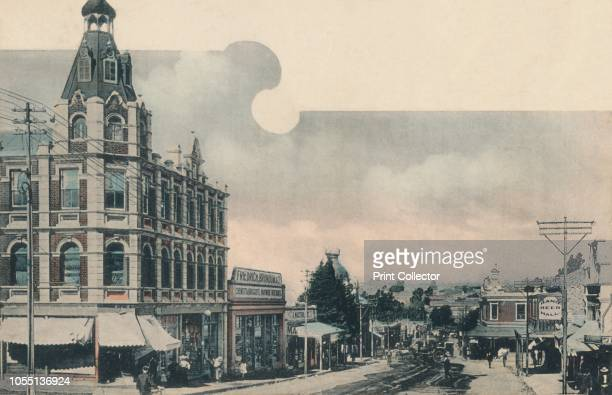 Main Ford - Fordsburg', early 20th century. Thoroughfare in the town of Fordsburg, now a suburb of Johannesburg in South Africa. On the left is a...