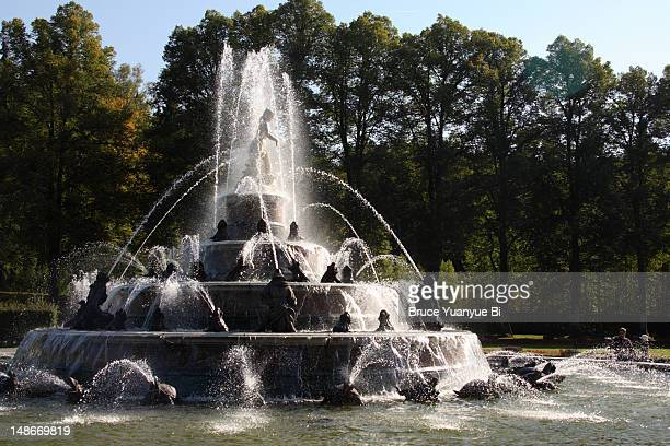Main fountain of Herrenchiemsee Palace (New Palace).
