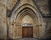 main front door cistercian monastery located