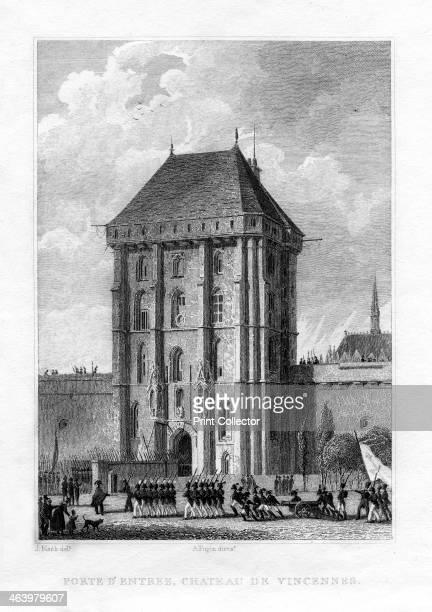 Main gate, Chateau de Vincennes, Paris, 1830.