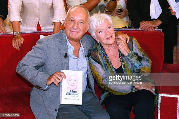 Main guest actor Francois Berleand and singer Line Renaud attend 'Vivement Dimanche' French TV Show at Pavillon Gabriel on September 4 2013 in Paris...