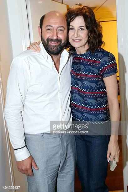 Main Guest of the show actor Kad Merad and actress Valerie Lemercier present the movie Les vacances du Petit Nicolas where they are those parents at...