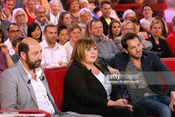 """Main Guest of the show actor Kad Merad presents the movie """"Les vacances du Petit Nicolas"""" and actors Michele Bernier and Frederic Diefenthal present..."""