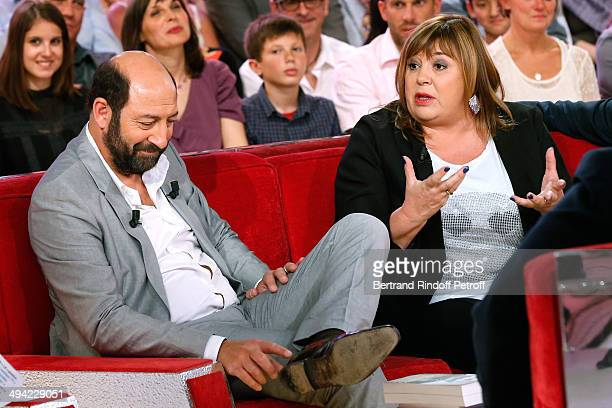 Main Guest of the show actor Kad Merad presents the movie Les vacances du Petit Nicolas and actress Michele Bernier presents the theater play Je...
