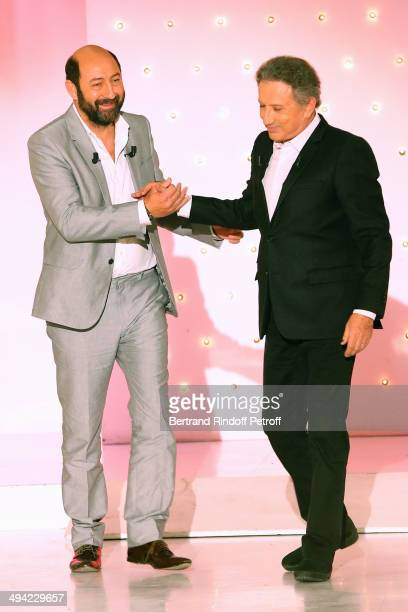 Main Guest of the show actor Kad Merad presents the movie Les vacances du Petit Nicolas and Michel Drucker who celebrates its 50 years of TV...