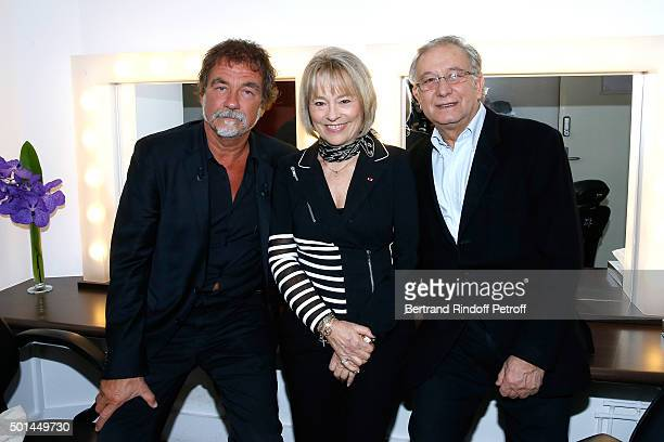 Main Guest of the Show actor Olivier Marchal Martine Monteil who presents her book 'Flic tout simplement' and Scenarist Simon Michael attend the...