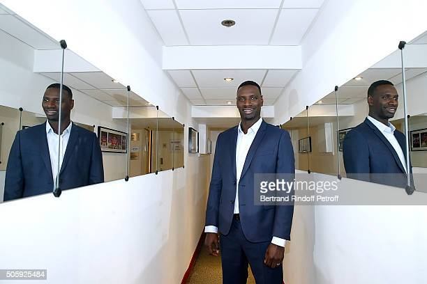 Main guest of the show Actor Omar Sy presents the movie 'Chocolat' during the 'Vivement Dimanche' French TV Show at Pavillon Gabriel on January 20...