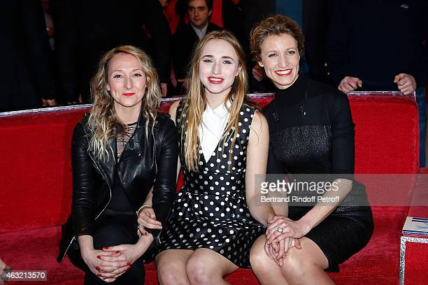 Main Guest of the Show Alexandra Lamy her sister Audrey Lamy and her daughter Chloe Jouannet attend the 'Vivement Dimanche' French TV Show Held at...