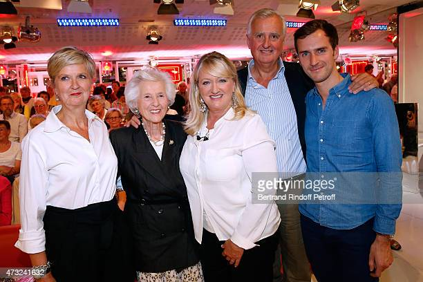 Main Guest of the show Charlotte de Turckheim posing with her family her sister Chleophee de Turckheim her mother Francoise her brother Amaury de...
