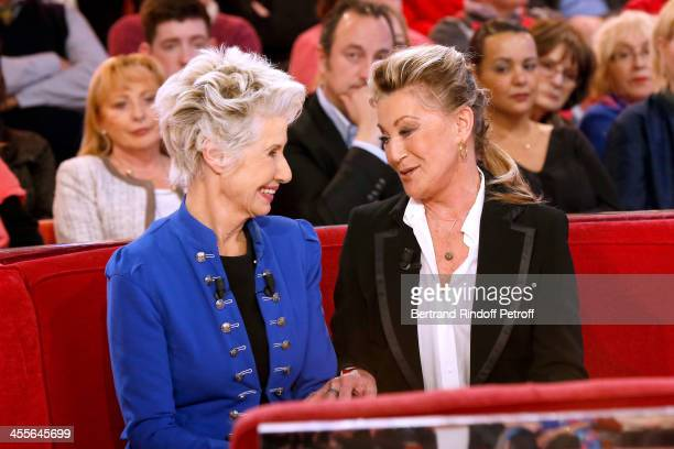 Main Guest of the show Daniele Gilbert and singer Sheila attend 'Vivement Dimanche' French TV Show at Pavillon Gabriel on December 12 2013 in Paris...