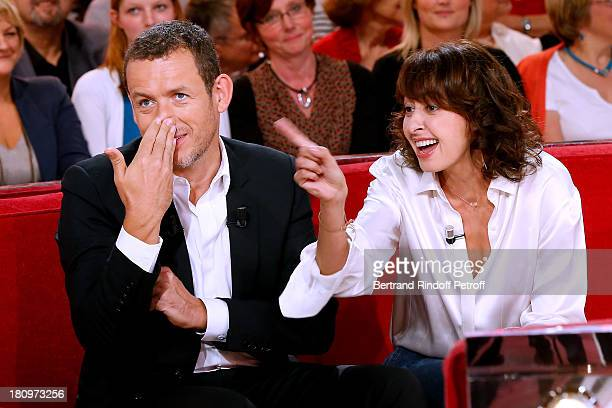 Main Guest of the show humorist Dany Boon and actress Valerie Bonneton both from movie 'Eyjafjallajokull' attend 'Vivement Dimanche' French TV Show...