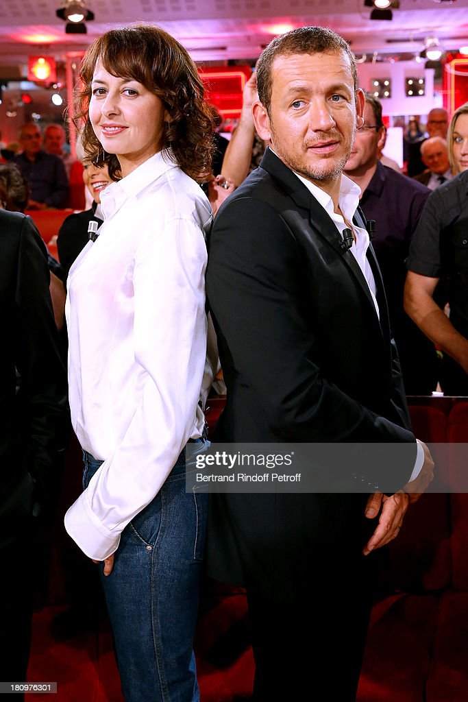 Main Guest of the show, humorist Dany Boon and actress Valerie Bonneton, both from movie 'Eyjafjallajokull', attend 'Vivement Dimanche' French TV Show at Pavillon Gabriel on September 18, 2013 in Paris, France.