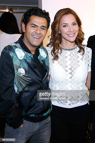 Main guest of the show Humorist Jamel Debbouze presents with his wife and actress of the movie Melissa Theuriau the movie Pourquoi j'ai pas mange mon...
