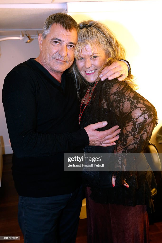 Main Guest of the show, Humorist Jean-Marie Bigard and his sister Anne-Marie Bigard attend the 'Vivement Dimanche' French TV Show at Pavillon Gabriel on October 7, 2015 in Paris, France.