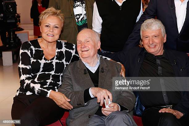 Main Guest of the Show Humorist Muriel Robin her former Professor of Drama Actor Michel Bouquet and her Stage Director from her beginnings Roger...