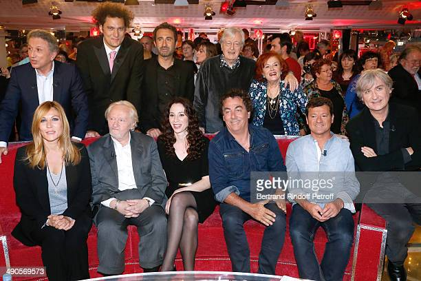 Main guest of the show Mathilde Seigner Niels Arestrup his wife Isabelle Le Nouvel Eric Carriere Francis Ginibre Jean Plantu Michel Drucker Eric...