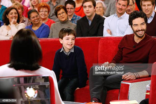 """Main guest of the show, singer Nana Mouskouri presents her """"Happy birthday tour"""", Actor, seven years old, Victor Cabal and actor Tahar Rahim present..."""