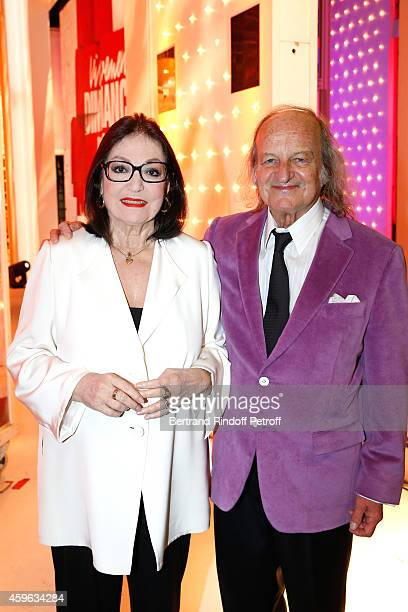 Main guest of the show singer Nana Mouskouri who presents her 'Happy birthday tour' and her husband Andre Chapelle attend the 'Vivement Dimanche'...