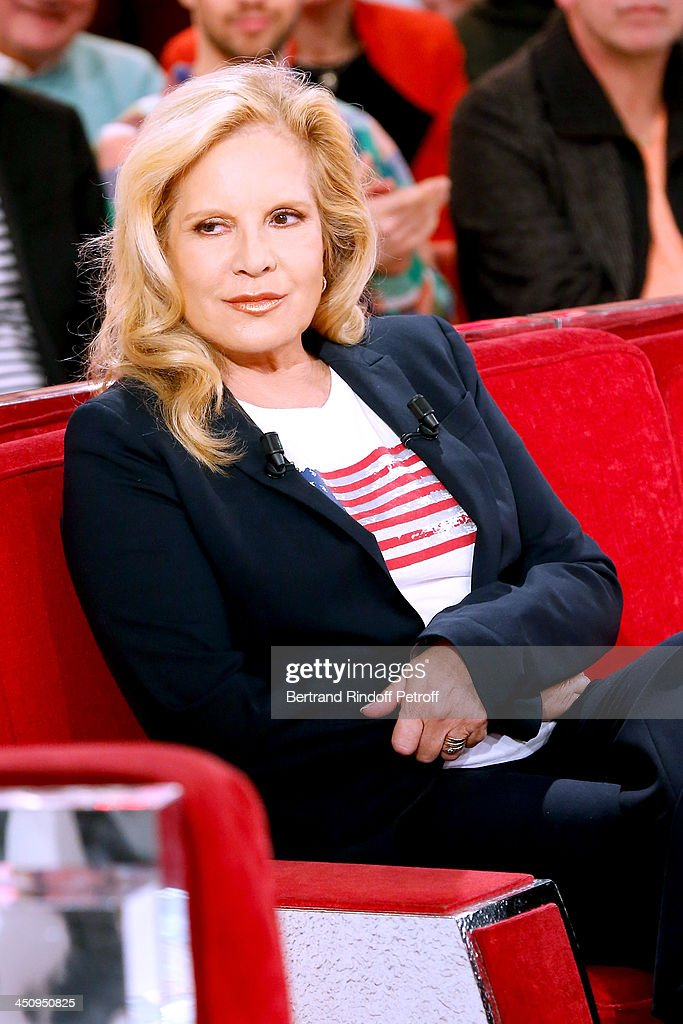 Main Guest, singer Sylvie Vartan attends the 'Vivement Dimanche' French TV Show, held at Pavillon Gabriel on November 20, 2013 in Paris, France.