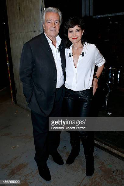 Main guests of the show Actors Pierre Arditi and his wife Evelyne Bouix present the Theater Play 'Le mensonge' performed at Theatre Edourd VII during...