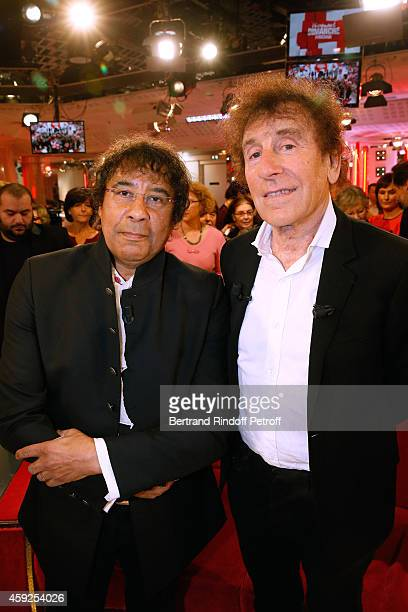 Main Guests of the show singers Laurent Voulzy and Alain Souchon present their new album 'Alain Souchon Laurent Voulzy' and their show at 'Palais des...