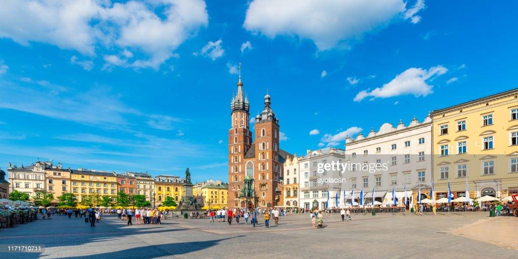Main market square of Krakow : Stock Photo