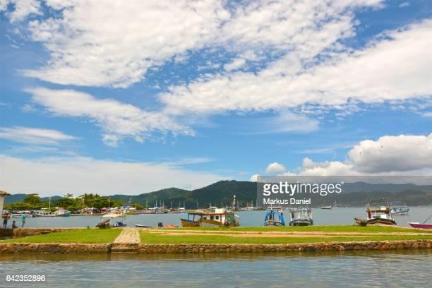 Main Pier and bay of the town of Paraty, Rio de Janeiro