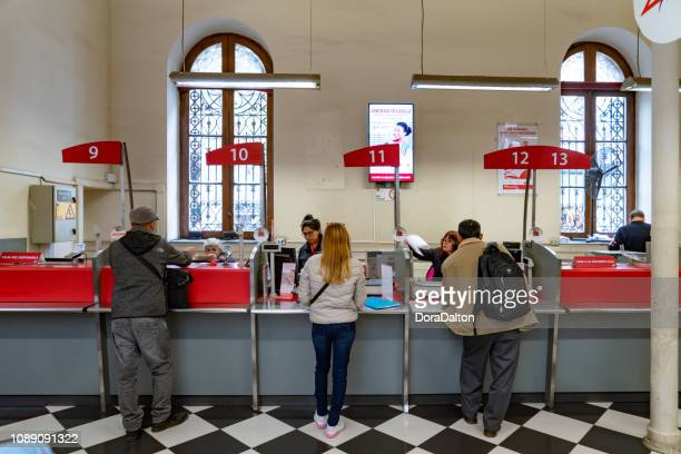 main post office, santiago - post office stock pictures, royalty-free photos & images